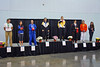 The finalists in Division III Women's Epee.  From left, Lauren Nethery (8), Julia Aronov (6), Naomi De La Torre (3T), Nina Moiseiwitsch (1), Courtney Dumas (2), Rose Semmel (3T), Valerie Burkett (5), Katie Whitaker (7).