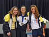 Siobhan Fabio, Nina Moiseiwitsch and Ella Barnes, CCFC fencers in the Division III Women's Epee.