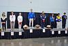The finalists of Division II Women's Epee.  From left: Nina Moiseiwitsch (8), Heather Ciganek (6), Catherine Lee (3T), Julia Tikhonova* (1), Christie Robinson (2), Oceane Boisson (3T), Louise Fournier** (5), Marie Lawson (7).  *Israeli citizen.  **Canadian citizen.