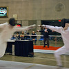 Ben Cohen (right) in the Junior Men's Epee.