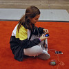 Nina Moiseiwitsch between rounds of the Cadet Women's Epee.