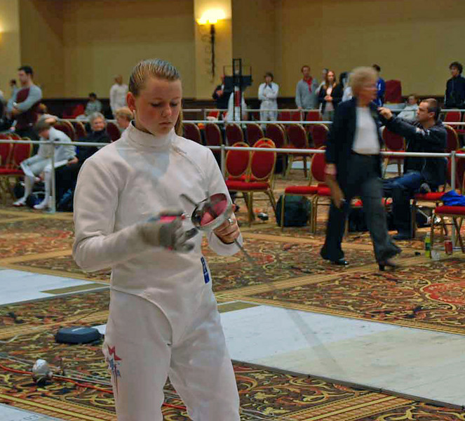 Channing Foster in the Division I Women's Epee.