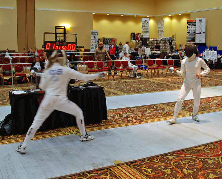 Channing Foster attacks in the Division I Women's Epee.