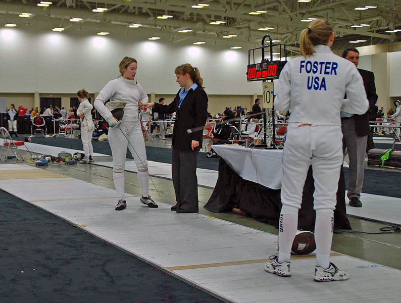 Channing Foster in the Junior Women's Epee.