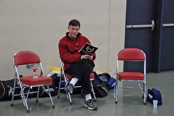 David Cohen before the Division I Men's Epee begins.