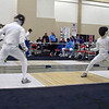 Ben Cohen (right) in the Division I Men's Epee.
