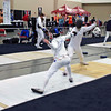 Ben Cohen (left) in the Division I Men's Epee.