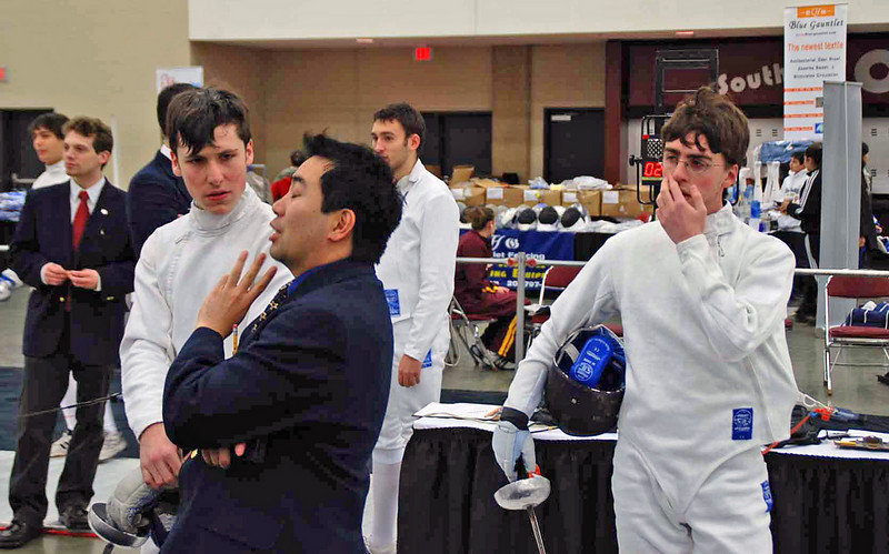The Division I Men's Epee was halted after it had already started for a reseed.
