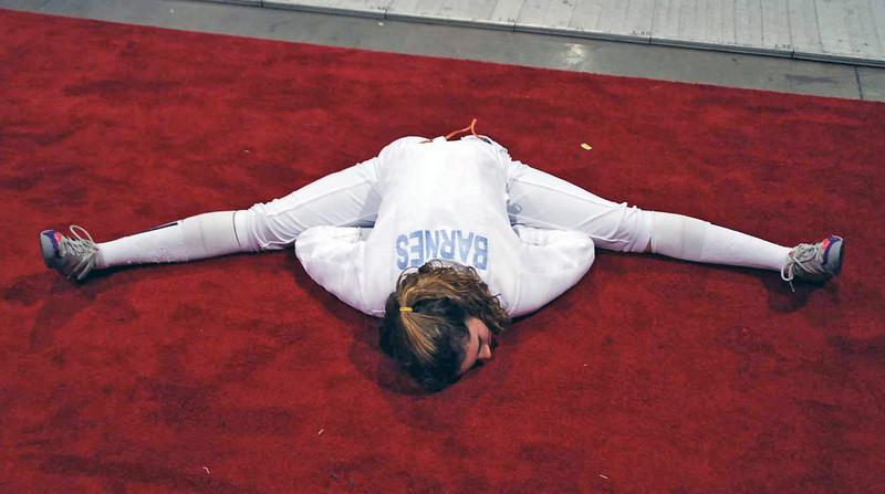 A stretch that only Ella Barnes can do.