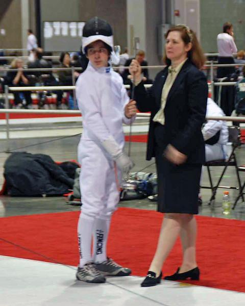 Referee Jill Feldman.