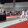 Ella Barnes, left, in the Division III Women's Epee.
