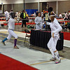 Ella Barnes, right, in the Division II Women's Epee.