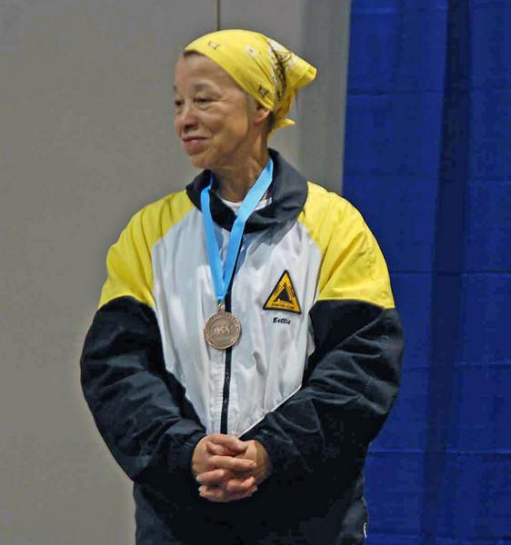 Bettie Graham, 7th place, Veteran 60+ Women's Foil.