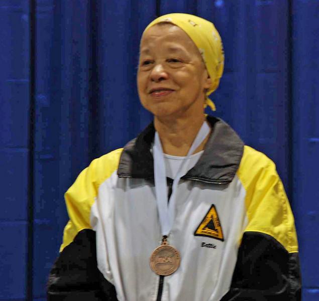 Bettie Graham, 3rd place, Veteran 60+ Women's Epee.