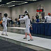 Elizabeth Wiggins in the Y10 Women's Epee.