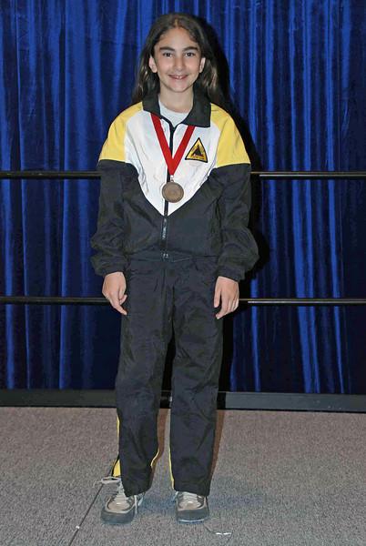Elizabeth Wiggins, 2nd place, Y10 Women's Epee.