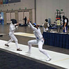 Katharine Holmes, right, in the Division I Women's Epee.