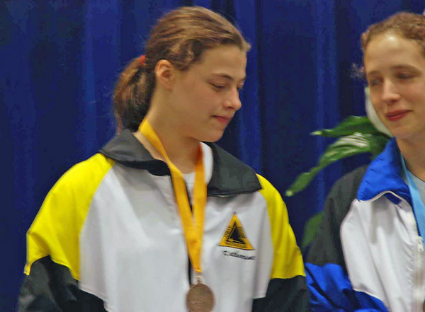 Katharine Holmes (5th) and Hannah Safford (7th) in Division I Women's Epee.