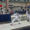 Raphael Sitbon-Taylor (right) in the Y10 Men's Foil.