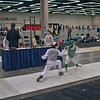 Raphael Sitbon-Taylor (left) in the Y10 Men's Foil.