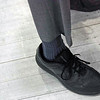Referee Bob Cochrane's socks (Bob's Socks) are not labeled when he referees.