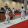 Olivia Morreale (left) in the DE of the Y12 Women's Epee.