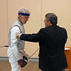 Michael Burack competes in the Veteran-60+ Men's Foil.