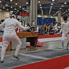 Siobhan Fabio (left) in the Division III Women's Epee.