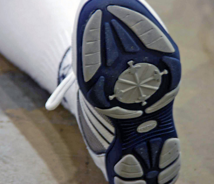 Olivia Morreale's new fencing shoes have swords on the soles.
