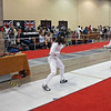 Nina Moiseiwitsch (left) in the U19 Women's Epee.