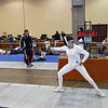 Ella Barnes in the U19 Women's Epee (right).