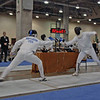 John Ferro (right) in the Division III Men's Epee.