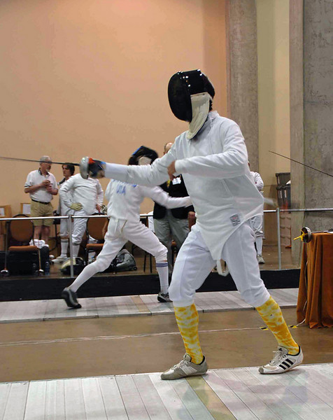 John Ferro in the Division II Men's Epee.