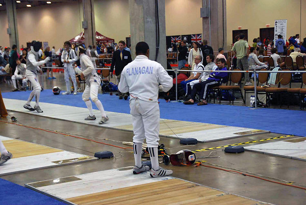 Seth Flanagan hooks up in the Y14 Men's Epee.