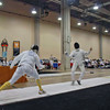 John Ferro (left) in the Division II Men's Epee.