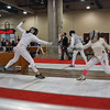 Katharine Holmes, left, in the U19 Women's Epee.