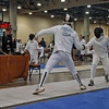 John Ferro (left) in Division III Men's Epee.