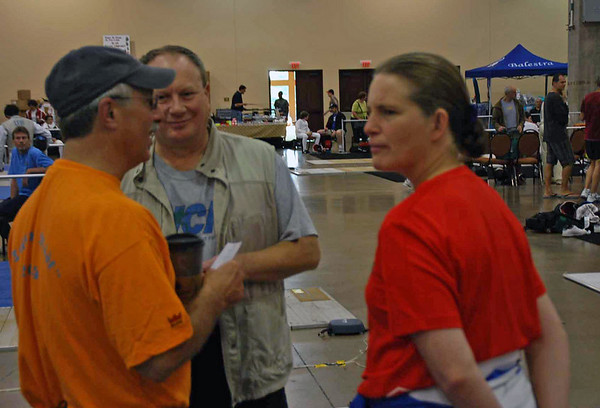 Paul Soter, Gary Copeland and Maureen Griffin at Summer Nationals.