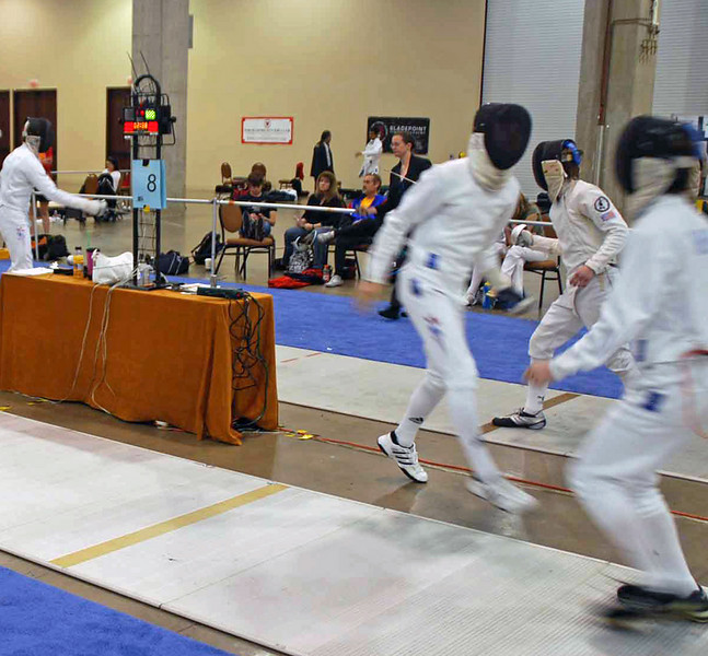Ben Cohen, right, in the U19 Men's Epee.