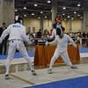 Daniel Wiggins, right, in the U16 Men's Epee.
