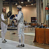 Michael Burack (right) in the DE's of the Veteran-60+ Men's Foil.
