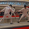 Mark Henry (right) in the Veteran-60 Men's Epee.