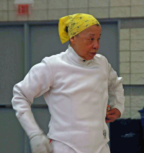 Bettie Graham in the Veteran-60 Women's Epee.