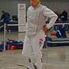 Bettie Graham prepares in the Veteran-60 Women's Foil.