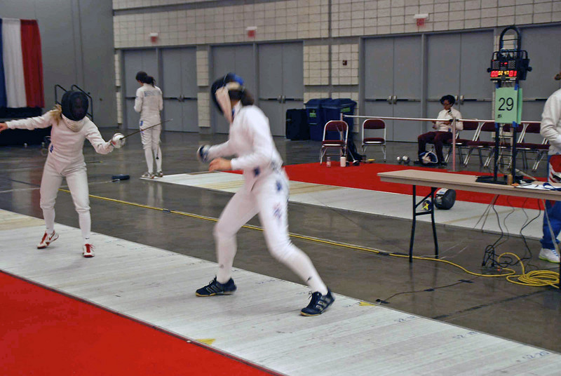 Katharine Holmes (right) in the Division I Women's Epee