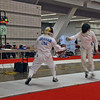 Bettie Graham competing in the Veteran-60 Women's Epee.