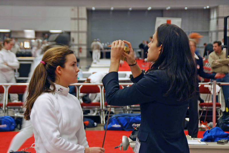 Nina Moiseiwitsch in the Division I Women's Epee.