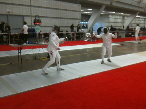 A video of the Veteran-60 Women's Epee bout between Terry Abrahams (left) and Bettie Graham (right).