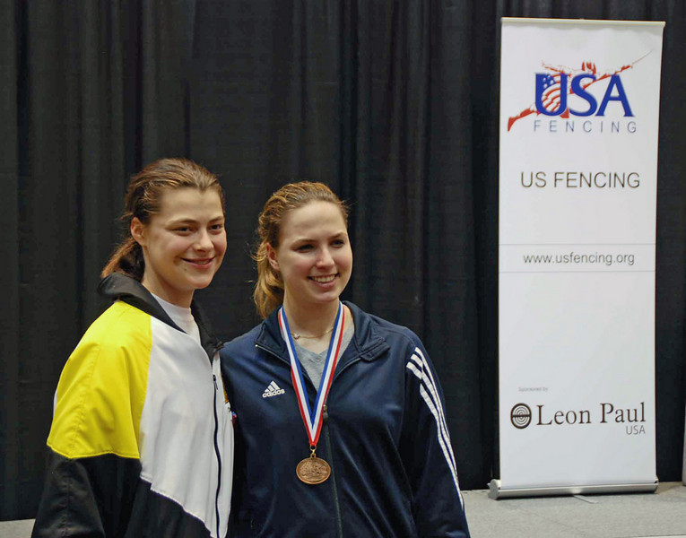 Two members of the 2010 US Junior World Championship Team.  From left: Katharine Holmes and Neely Brandfield-Harvey.
