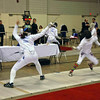 Katharine Holmes (left) vs Amanda Sirico in the Junior Women's Epee.